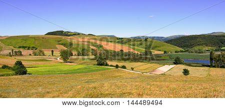 Parco di Colfiorito (Umbria) beautiful landscape in daylight