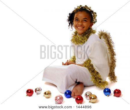 Angel With Christmas Bulbs
