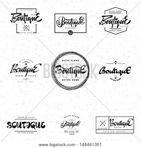 Fashion Boutique Premium - Shop - the sign is made using the skills of calligraphy and lettering, use the right typography and composition.