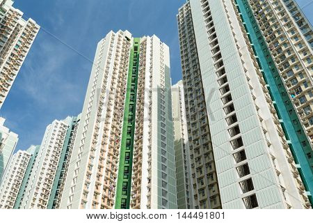 Public housing from low angle