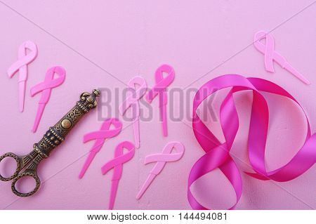 Pink Ribbon Charity Background.