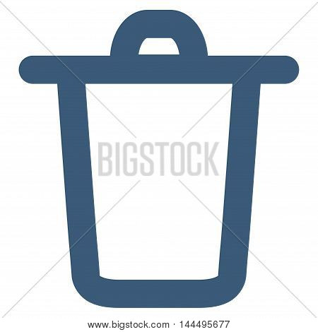 Bucket vector icon. Style is linear flat icon symbol, blue color, white background.