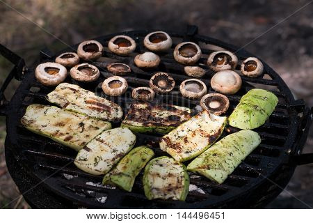 Appetizing Zucchini And Mushroom Bake Barbecue
