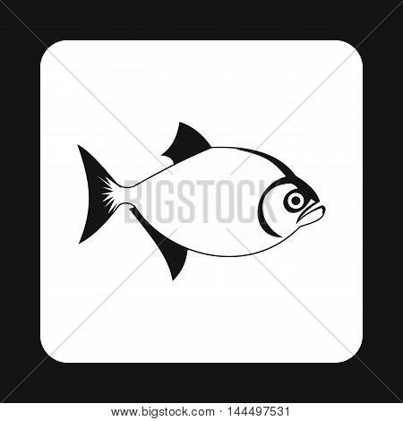 Vampire fish icon in simple style isolated on white background. Inhabitants aquatic environment symbol
