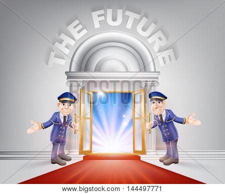 Red Carpet Door To Your Future