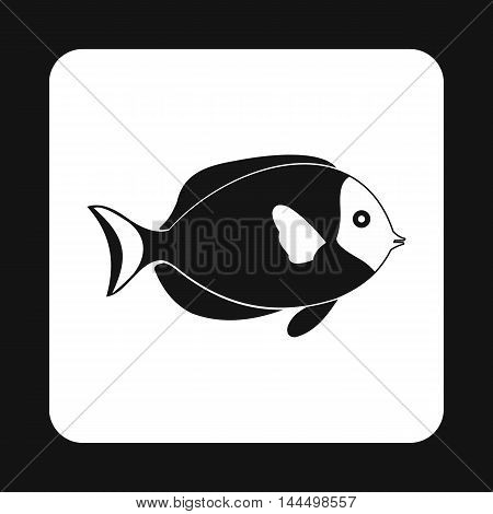 Surgeon fish icon in simple style isolated on white background. Inhabitants aquatic environment symbol