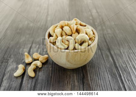 Bowl Of Salted Cashew Nuts