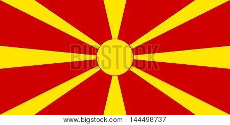 Illustration of the national flag of Macedonia