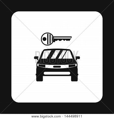 Car from impound yard icon in simple style isolated on white background. Transport and service symbol