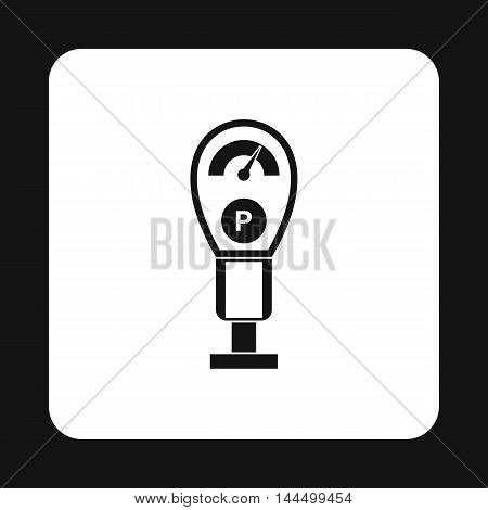 Pressure measurement icon in simple style isolated on white background. Transport and service symbol