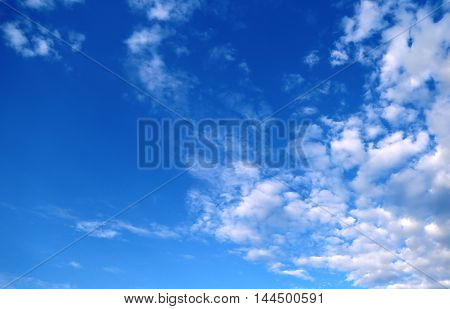 Blue sky background with clouds. Photo backgriund
