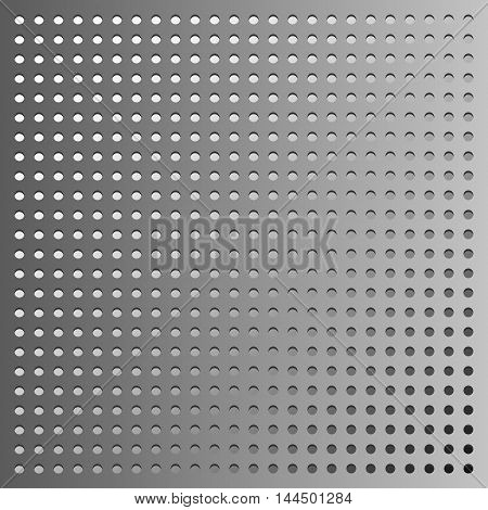 Vector metal background grey gradient dotted pattern