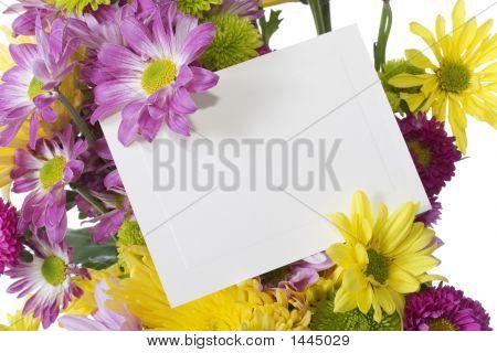Frisch frühling Blumengesteck mit Notiz-Karte