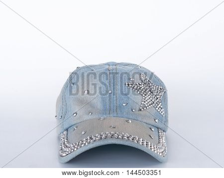 The cap is made of cotton genes . On a white background.