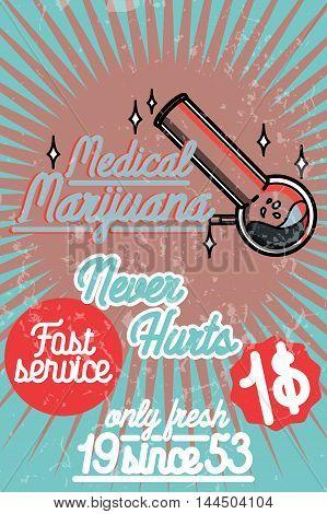 Medical marijuana banner. Vector illustration EPS 10
