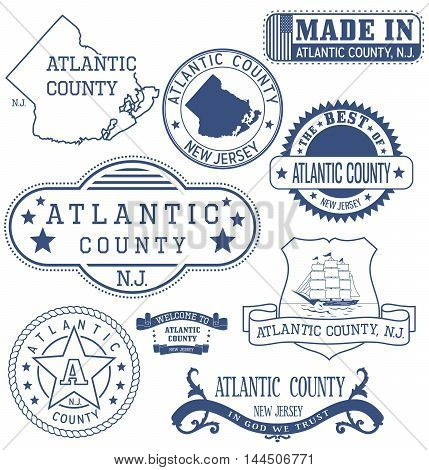 Atlantic County, Nj, Generic Stamps And Signs