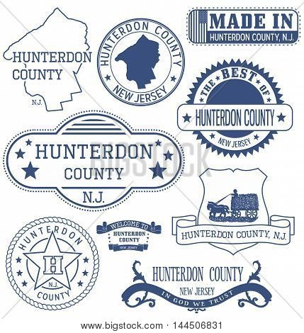 Hunterdon County, Nj, Generic Stamps And Signs