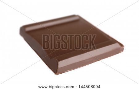 Chocolate piece, isolated on white