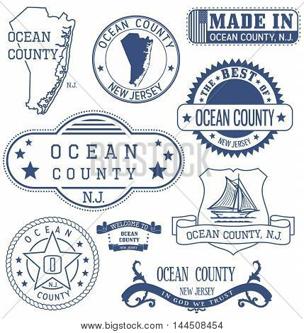 Ocean County, Nj, Generic Stamps And Signs