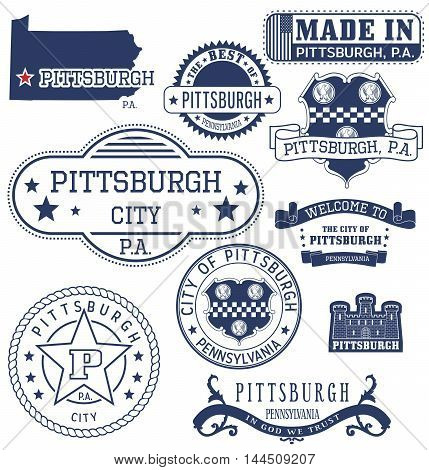 Pittsburgh City, Pa, Generic Stamps And Signs