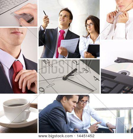 Collage de negocios de algunas fotos de negocios