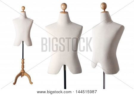 A Male mannequin isolated on white background.
