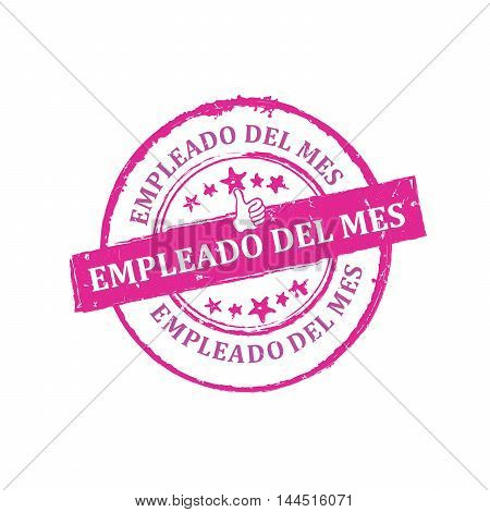 Best Employee of the Month (Spanish language: Empleado del mes) - Printable rubber grunge label / badge