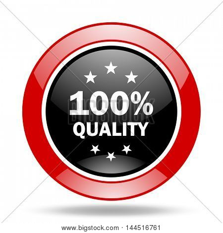 quality round glossy red and black web icon
