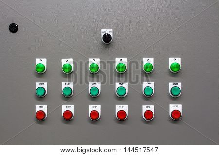 The main power and control switch system.