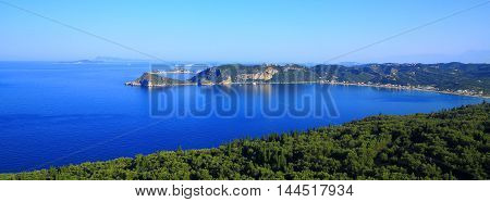 View Over Agios Georgios Pagon On Corfu Island