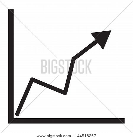 Graph Icon in trendy flat style isolated on grey background
