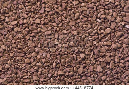 Macro granulated instant coffee as a background
