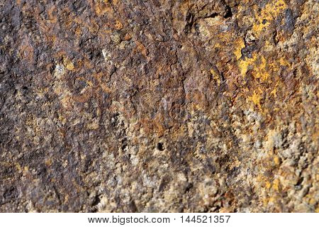 Old rusty metal surface can be used as background