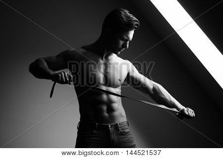 Muscular Man With Belt