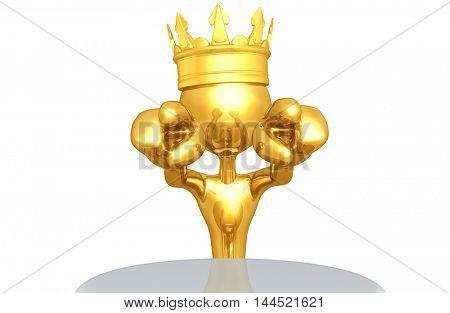 King Character 3D Illustration