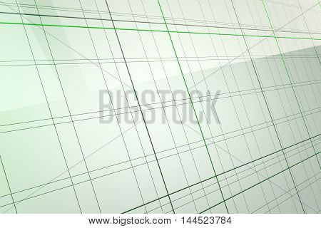 Abstract green glass background 3d rendering of computer visualization