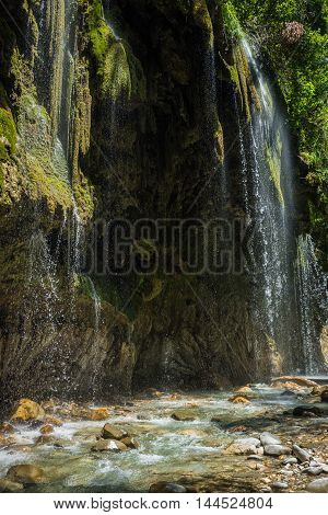 Waterfalls On The River Krikiliotis At Panta Vrexei In Evritania, Greece