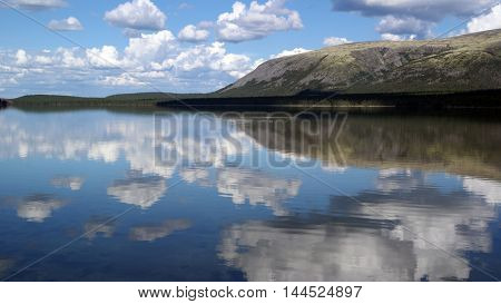 Hibiny mountains above the Arctic circle.August 12,2016.Murmansk Region,Russia