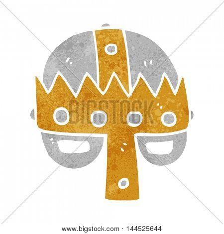 freehand retro cartoon medieval helmet