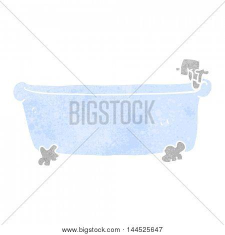 freehand retro cartoon bath