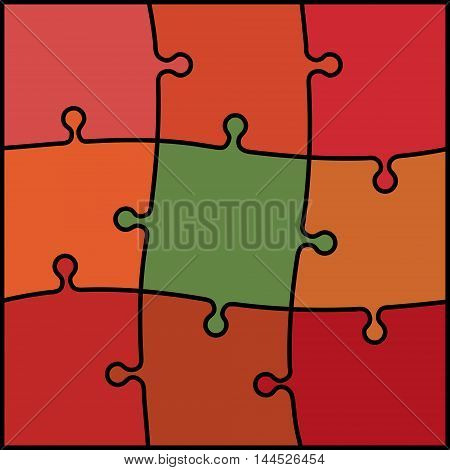 abstract colored puzzle background - red orange and green