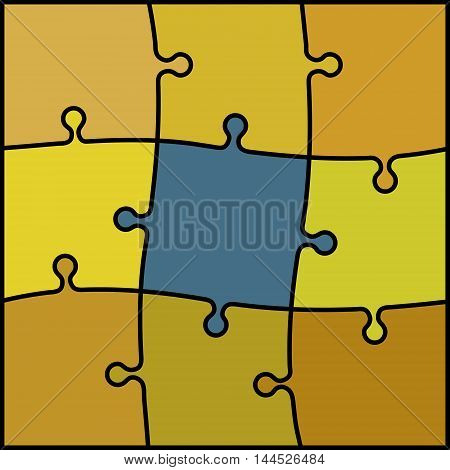abstract colored puzzle background - yellow brown and blue