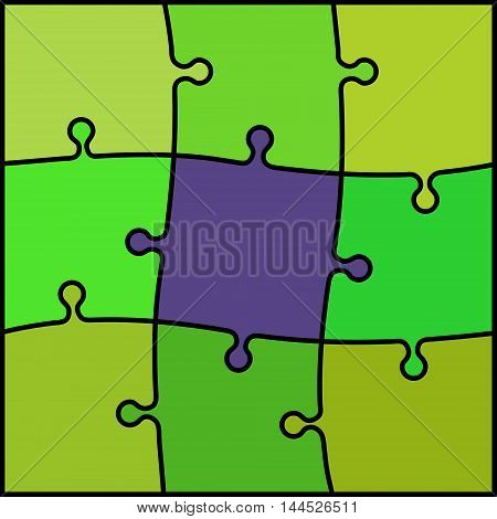 abstract colored puzzle background - green and violet