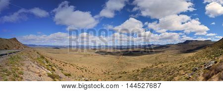 The view from the top of the Paardekloof Pass in the Eastern Cape South Africa