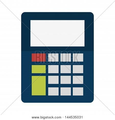 calculator digital display tool technology icon. Flat and isolated design. Vector illustration