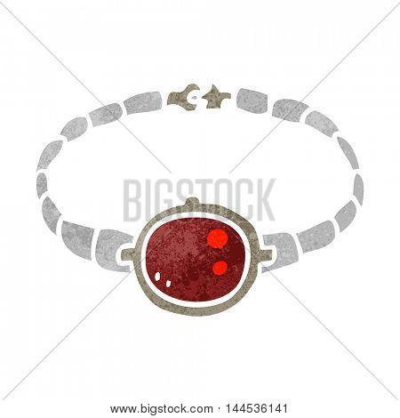 freehand retro cartoon ruby bracelet