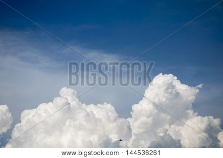 Clouds blue sky background. beautiful natural texture.