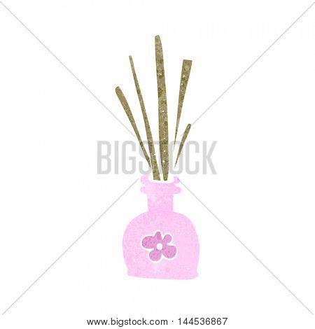 freehand retro cartoon fragrance oil reeds