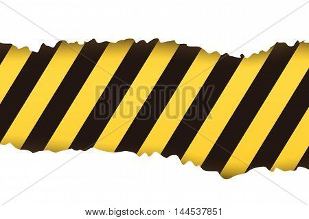 illustration of torned stipes background yellow black color