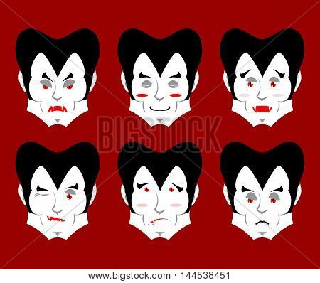 Dracula Emotions. Set Expressions Vampire Avatar. Good And Evil. Surprise And Fun. Sad And Aggressiv